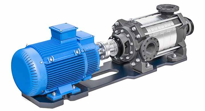 Beispiel einer Unterwassermotorpumpe